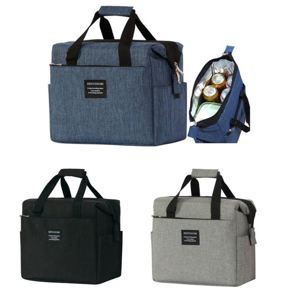 Oxford Cloth 10L Large Ice Cooler Bags Insulated Pack Drink Thermal Leisure Handbag shoulder Picnic Pouch Lunch Bag Box