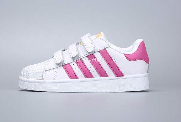 Großhandel Adidas Superstar Smith Allstar Neue Kinder Superstar Schuhe Original White Gold Baby Kinder Superstars Sneakers Originals Super Star