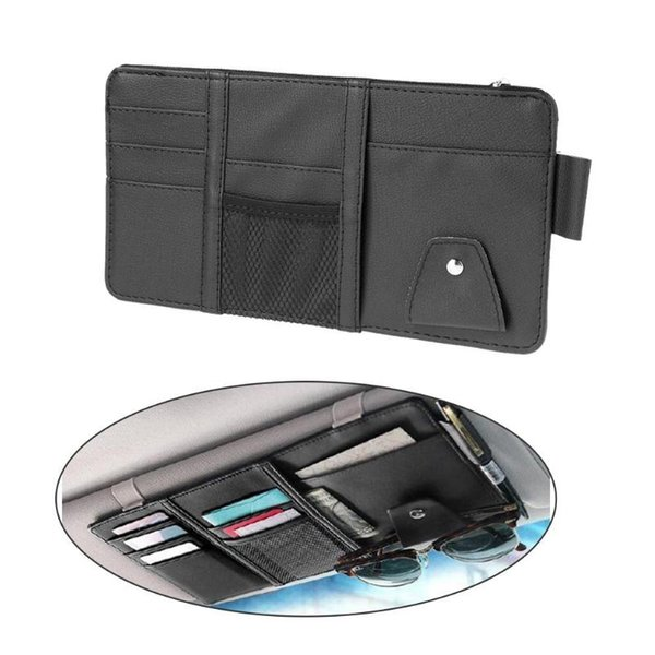 VODOOL coche del automóvil de la visera parasol Organizador la bolsa de la pluma de la tarjeta portalentes multiuso Bolsa de almacenamiento Accesorios Interior