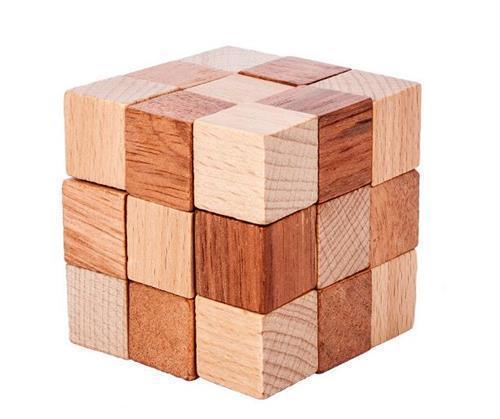 Anspruchsvolle Iq Holzwürfel Puzzle Mind Brain Teaser Puzzles Spiel Spielzeug für Erwachsene Kinder