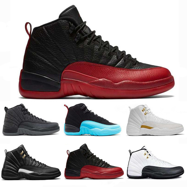 6a4b99908ef 2018 Cheap 12 Bordeaux Dark Grey wool basketball shoes white Flu Game UNC  Gym red taxi