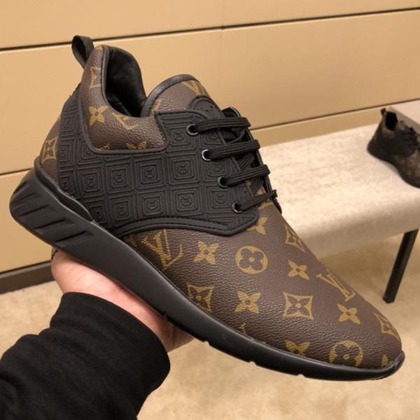 Moda popolare atletica di lusso classico scarpe da ginnastica casual traspirante confortevole in pelle Designer scarpe da uomo stampa Fastlane Sneaker LL29