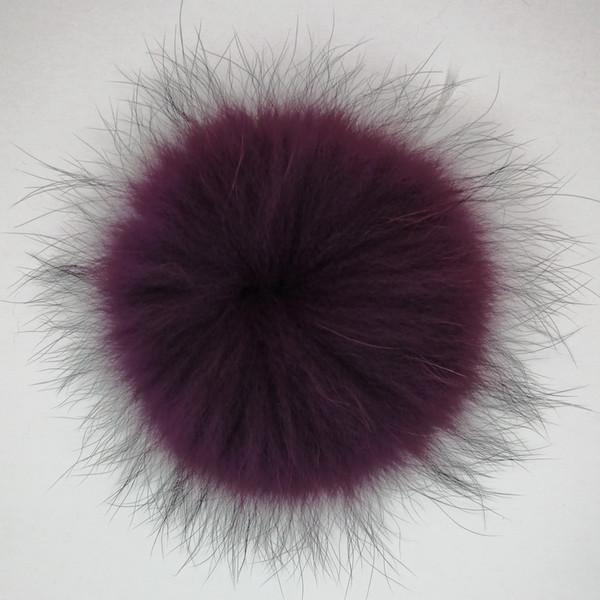 Multicolour Round Fox Nerz Waschbär Kaninchenhaarball Dekorative Plüsch Pelz Pompon Schlüsselbund Schlüsselring für Tasche