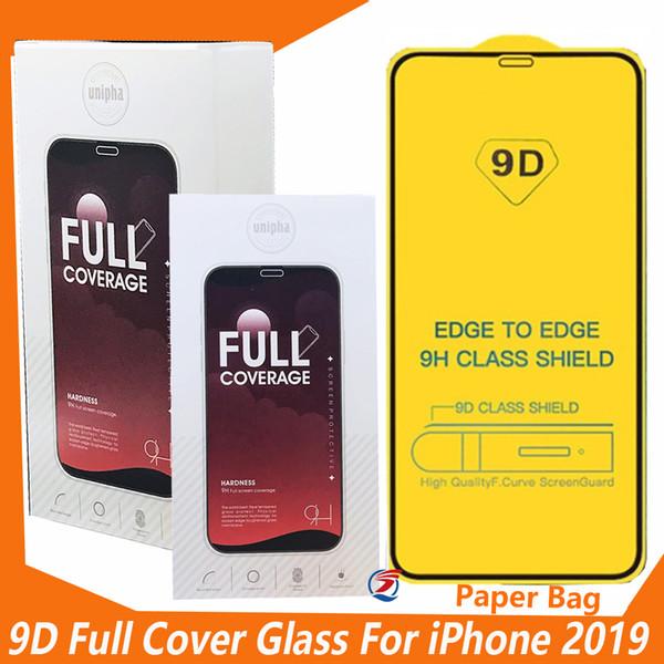 9d gehärtetes glas für iphone 11 2019 iphone xr xs max x 8 7 plus samsung a80 a70 volle abdeckung rand zu rand displayschutzfolie mit einzelhandelspaket