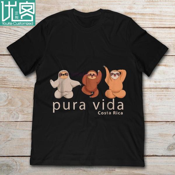 2019 бренд ленивцы сувенир Пура вида Коста-Рика мужская футболка