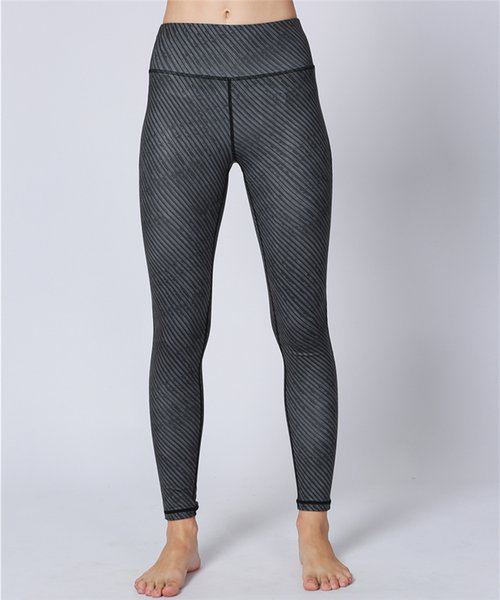 Womens Sports Yoga Pants Twill High Waisted Workout Leggings Running Training Riding Fitness Gym Dance Trousers Elastic Tights Skinny Pants