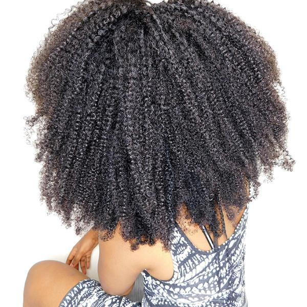 Rainbow Queen Hair 4a 4b 4c Afro Verworrene Lockige Remy-Haarspange in Extensions Brasilianisches Menschenhaar-Clip ins für Afroamerikaner