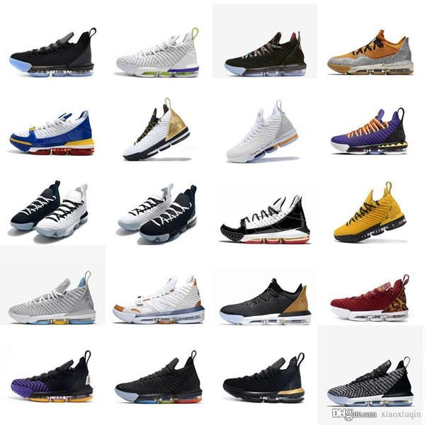 Chaussures de basket lebron 16 pour femmes Martin Remix Rouge Noir Blanc Bred SuperBron garçons filles jeunes enfants lebrons xvi baskets tennis avec boite