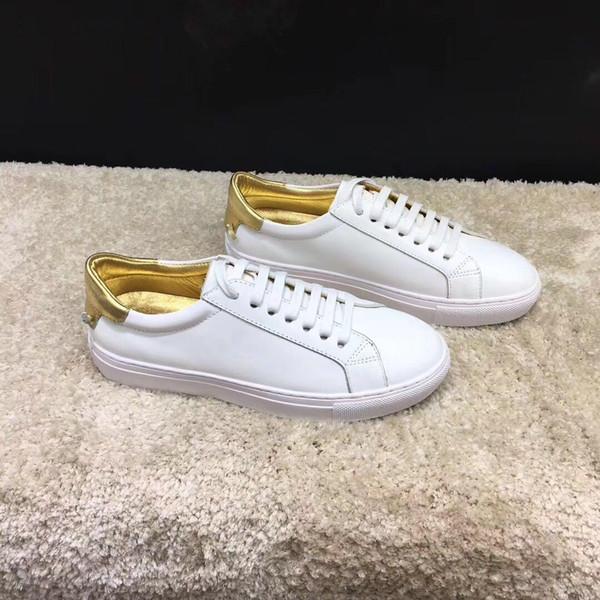 A Leisure Shoes New Spring Style 2019 Leder Designer Weiße Schuhe Geschnallte Turnschuhe für Herren und Damen Gymnastics dancing driving flat shoes