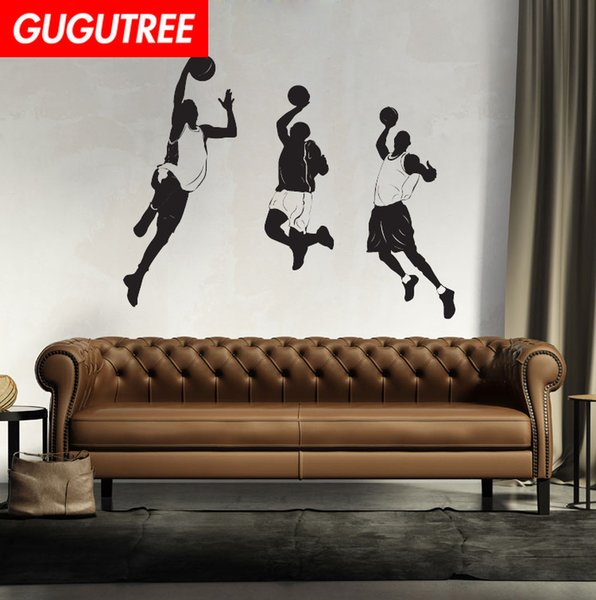 Decorate Home basketball cartoon art wall sticker decoration Decals mural painting Removable Decor Wallpaper G-2001