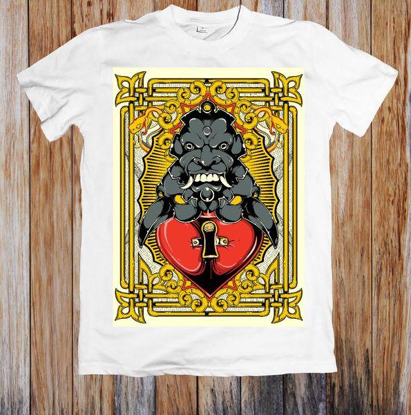 PROTECTED HEART UNISEX T-SHIRT Print Short Sleeve Men Top Novelty T Shirts Men'S Brand Clothing