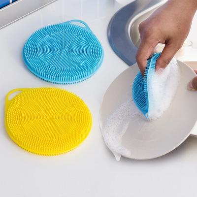 2018 Magic Silicone Dish Bowl Cleaning Brushes Scouring Pad Pot Pan Wash Brushes Cleaner Kitchen Silicone dish cloth