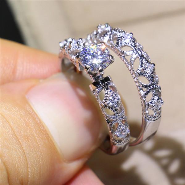UpPoint Women Fashion Handmade Gold Filled Jewelry 1ct di alta qualità cubic zirconia con montatura da sposa set anello da dito per amante taglia 5-10
