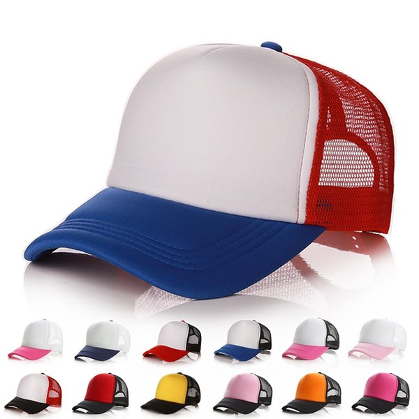 42 colors trucker cap mesh caps blank trucker hats snapback hats for men and women - from $2.90