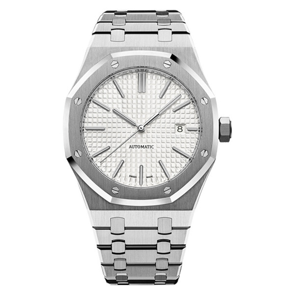 Mens montres de luxe mécaniques automatiques style classique 42mm bracelet en acier inoxydable top qualité montres-bracelets saphir super lumineux