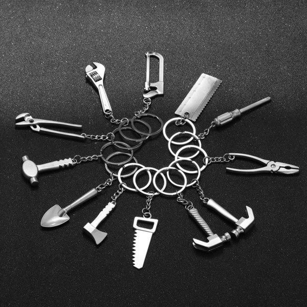 1 Pc 2018 Fashion Mini Creative Wrench Spanner Key Chain Car Tool Key Ring Keychain Jewelry Gifts New Design Nice Jewelry Gift C19011001