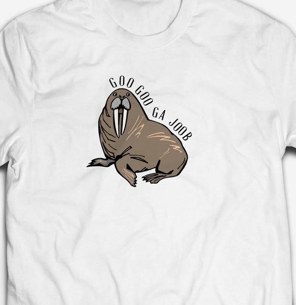 FUNNY GOO GOO GA JOOB WALRUS ANIMAL 100% cotton Mens RETRO MUSIC T-shirt TEE Men Women Unisex Fashion tshirt Free Shipping