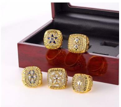 Wholesale New 2019 Super Bowl Cowboys Champion Ring Wooden Box Set Jewelry Accessories Men's Ring
