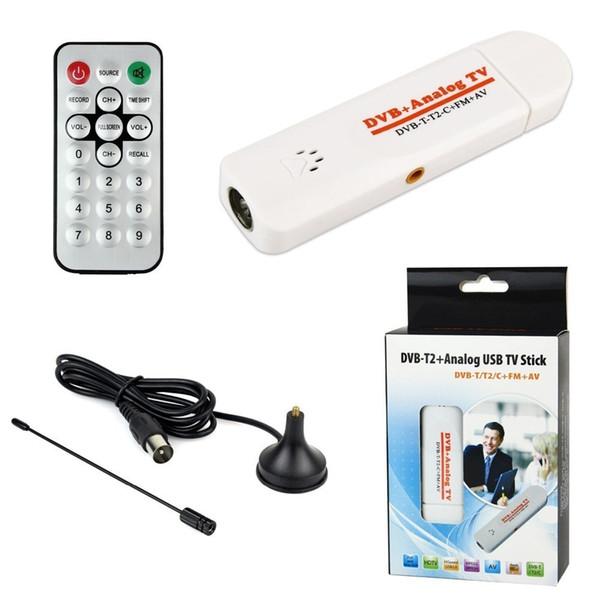 PC desktop portatile Digital TV Box DVB-T2 Sintonizzatore USB DVB T2 DVB T DVB-C Ricevitore analogico FM USB TV Stick HDTV VHF UHF Band