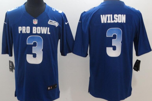 sports shoes 64ee8 fb6a6 Seattle Men Seahawks Jerseys #3 Russell Wilson 2019 Pro Bowl Limited Women  Youth Jersey Black Tuxedo Waistcoat Blue Prom Tuxedos From Jerseyoutlet_07,  ...