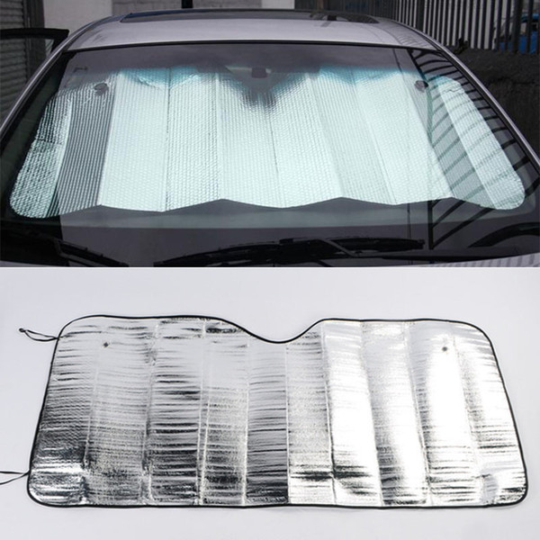 best selling Car Cover Front Windshield Aluminum Foil Plastic Film Cover Protection Sun Shade Protector Windshield Visor Sunshade 130*60
