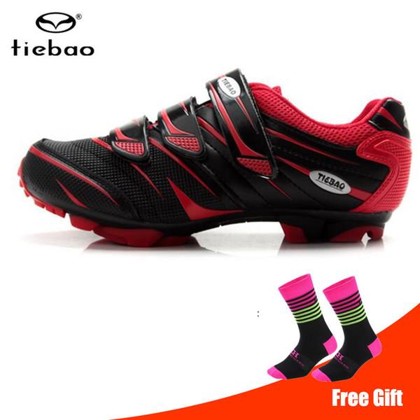 TIEBAO Bisiklet Ayakkabı sapatilha ciclismo MTB Bisiklet Erkekler Açık Atletik Dağ Bisikleti kaymaz Bisiklet Ayakkabı Oto-kilit