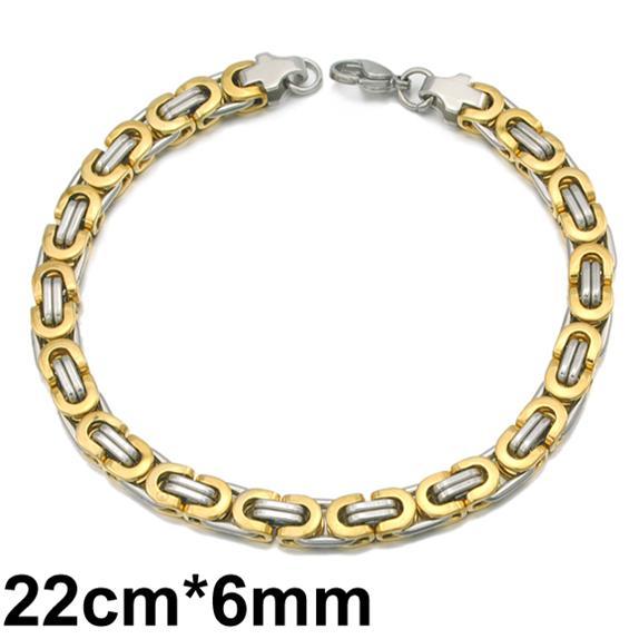 الفضة 6MM الذهب