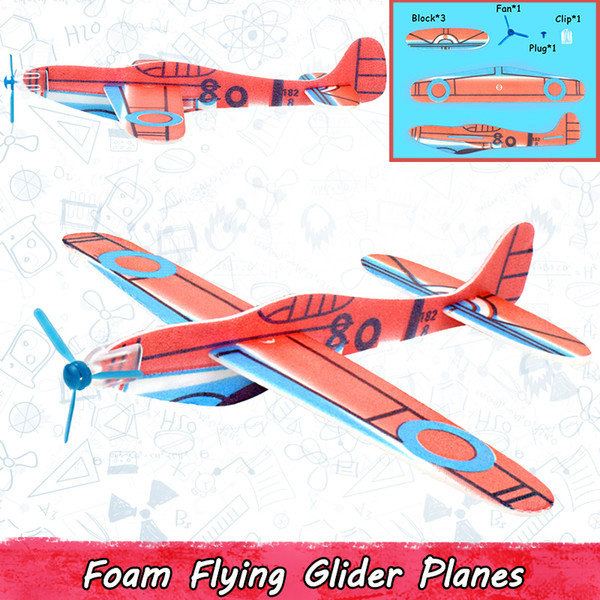 best selling Randon Hand Throw Flying Glider Planes Model Kit Toys for Kids Physics Experiment Scientific Training DIY Assembling Educational Toy Gifts