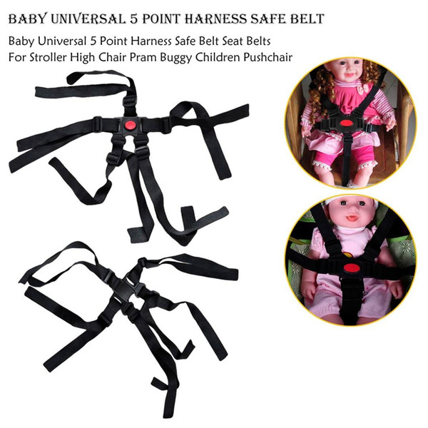 Baby Universal 5 Point Harness Safe Belt Seat Belts For Stroller High Chair Pram Buggy Children Pushchair Suitable Safe Easy Use