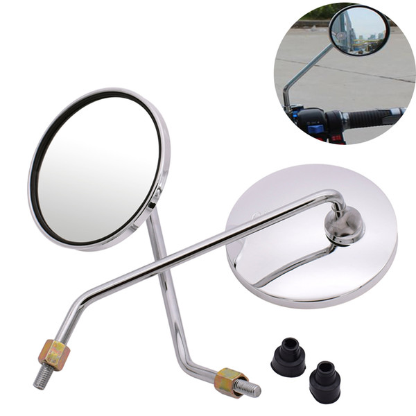 Universal Motorcycle Mirrors Round Mirror 8mm 10mm motorcycle accessories For YamahaR600 XT250 TRICKER DT230 DT125
