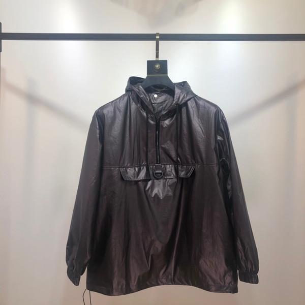 Manicotto di nuova marca di alta qualità lungo lusso del progettista di modo del Mens allentato colore dei rivestimenti naturale per Pullover cappotti formato casuale M-2XL B101323Q