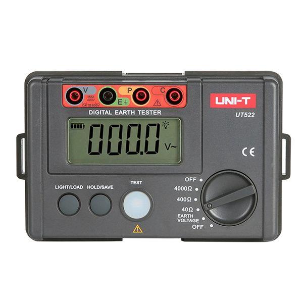 Freeshipping UT522 Digital Terra Resistenza Tester 400 V 4000 Ohm Voltage Detector Ohm Meter LCD Retroilluminazione 4000 Conteggi Test
