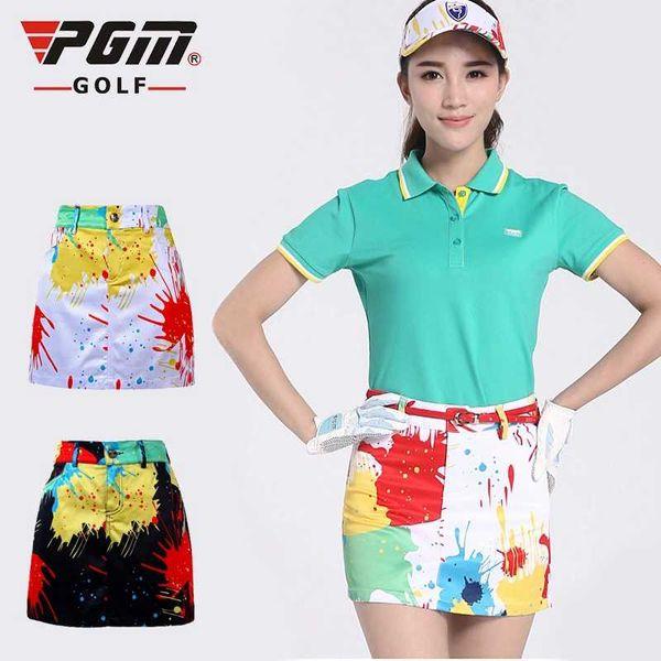 PGM Golf Sportswear Falda de golf para mujer Verano Camuflaje Imprimir Elasticidad Transpirable Forro anti-exposición Golf Shorts faldas