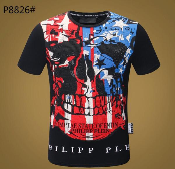 2019 verano europeo y americano comercio exterior transfronterizo ropa de hombre cuello redondo camiseta de manga corta delgada top132