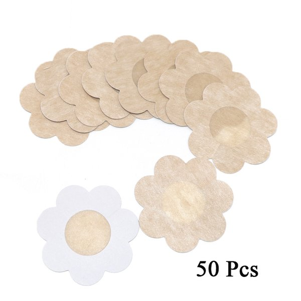 10/20/50pcs Soft Nipple Covers Disposable Breast Petals Flower Sexy Tape Stick on Bra Pad Pastie for Wedding Dress Intimate