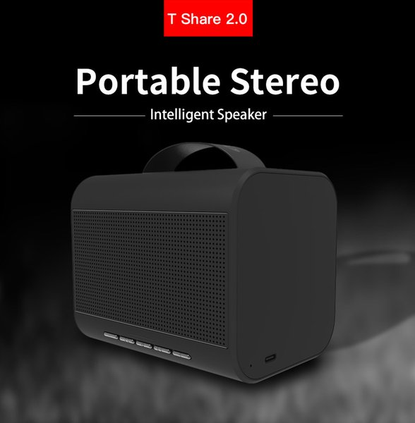 Bluedio T Share 2.0 Wireless Speaker Outdoor Portable Stereo Music Box Bluetooth 5.0 Intensive Bass Powerful Sound Speaker with Microphone