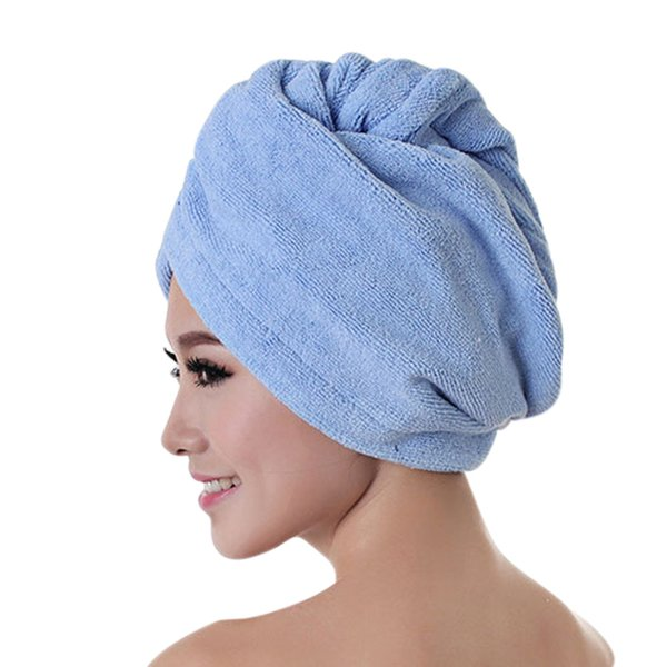 New Hot 1/4pcs Women Quickly Dry Hair Hat Microfiber Shower Cap Strong Water Absorb Drying Towel SMD66