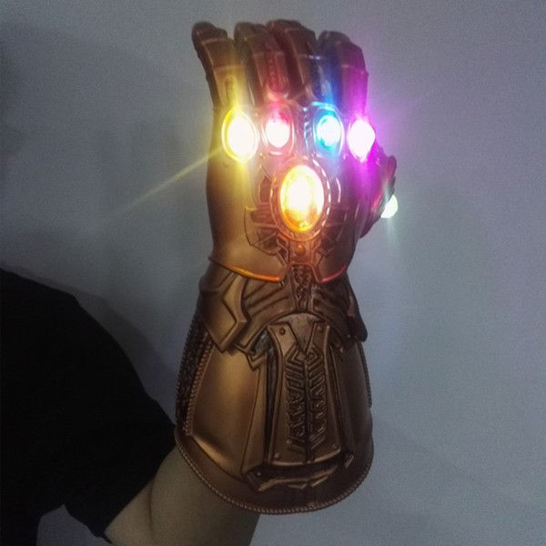 NEW LED Infinity Gauntlet 4 Endgame Косплей Arm латексные перчатки маска Marvel Железный Человек Superhero Танос