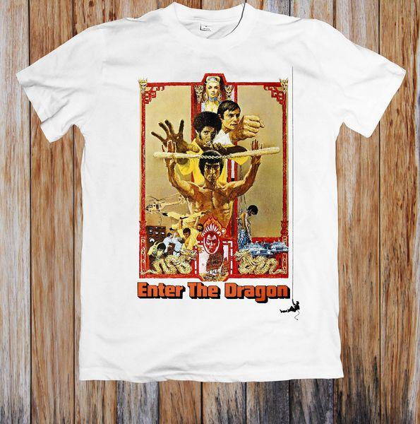 BRUCE LEE ENTRA EN LA CAMISETA UNISEX DRAGON Talla Camiseta clásica de alta calidad Estilo Estilo redondo Camiseta