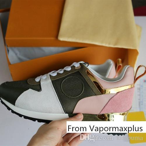 Wholesale Designer sneakers Brand Woman Man Leather Mesh Mixed Color Unisex Trainer Runner Shoes