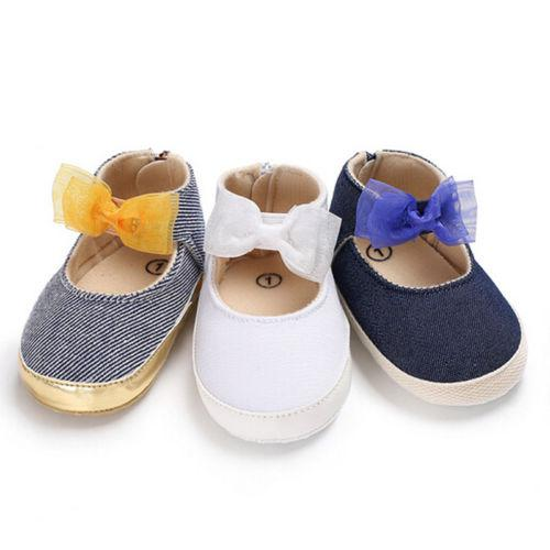 2019 Adorable Newborn Baby Boy Girl Pre Walker Soft Sole White Pram Shoes Trainers Size Baby Casual Shoes