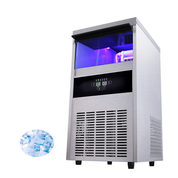 FREE SHIPPING Commercial Cube Ice Maker 68KG Electric Square Ice Making Machine 220V-240v / 50HZ Ice Tea Shop
