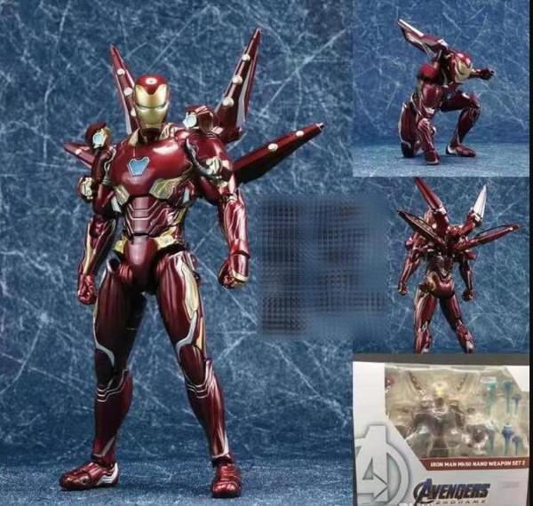 Avengers 4 SHF Homem de Ferro filme mk50 Battle Armor boneca modelo de mão crianças super-herói dos desenhos animados Boneca Nano guerra armadura presente de Natal Toy
