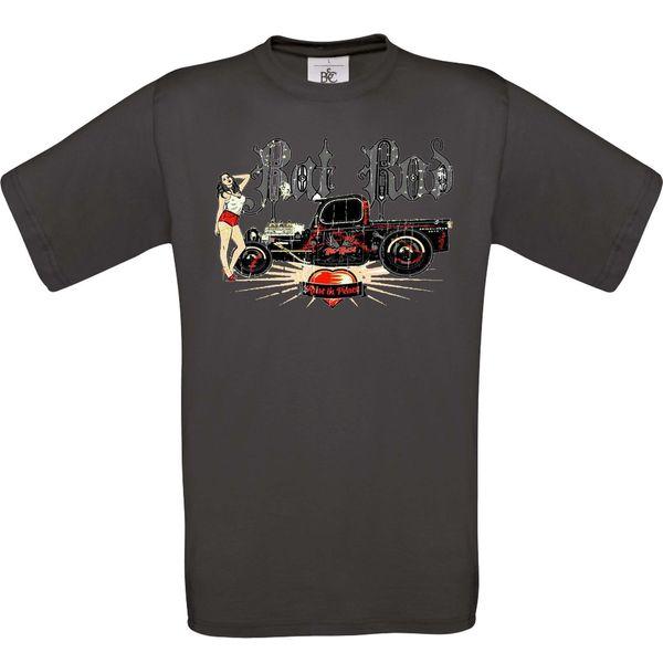 Hotrod 58 T-Shirt Hot Rod Ratte Rod Pick Up Truck American Classic Benutzerdefinierte V8 Auto Männer Frauen Unisex Mode T-Shirt Freies Verschiffen