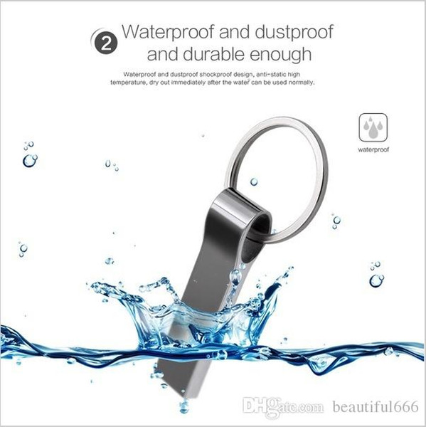 Новая реальная емкость водонепроницаемый металлический серебристый USB флэш-накопитель Pen Drive 32 ГБ ~ 128 ГБ