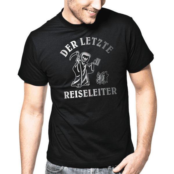 Compre Der Ltzte Reisleiter Schwrzer Humor Tod Sprüche Gechenk Lstig Spaß Camiseta A 127 Del Creativelywoven Dhgatecom