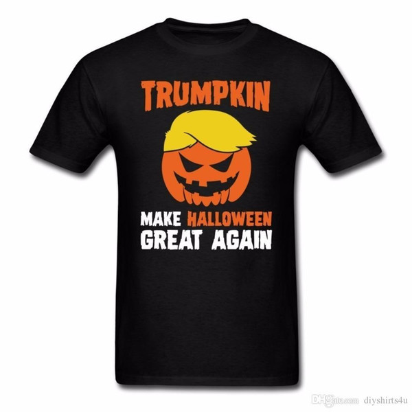 Awesome T-Shirts für Männer Männer Short Trumpkin Make Halloween Great Again Männer T-Shirts mit Rundhalsausschnitt Best Friend Shirts
