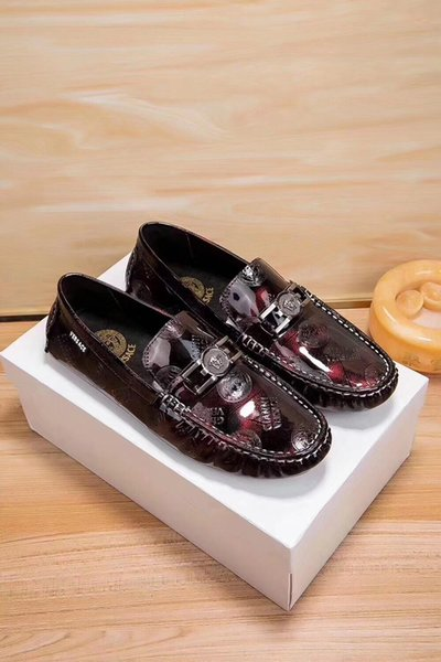 Moda Flats Erkekler Siyah / Kırmızı Örgün Casual Slip-On Kabartmalı Deri Erkek Flats Oxfords Loafer'lar Rahat Adam Moccasin ayakkabı