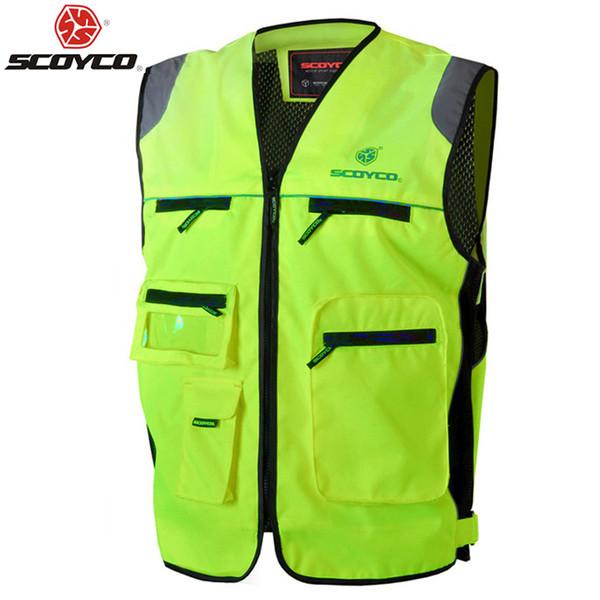motorbike Scoyco JK30 Motorcycle Reflecting Racing Visbility Moto Safety Road Security High Quality Vest Motorbike Free Shipping