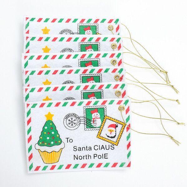 Enveloppes mignonnes de sucrerie de Noël Sacs Nouvel An Cartes de voeux bricolage Décorations Fournitures arbre de Noël Ornements Hanging